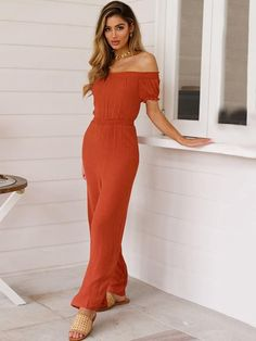 Cold Shoulder Short Sleeve Wide Leg Jumpsuits Strapless Dress Formal, Formal Dresses, Casual Jumpsuit, One Piece Swimwear, Sweater Outfits, Going Out, Jumpsuits For Women, Wide Leg, Cold Shoulder