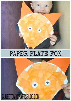 Paper Plate Fox - Kid Craft Idea