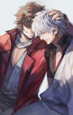 Sakamoto and Gintoki