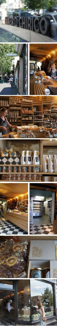 the wood interior is so neat and uniform across the store, and the packaging is cute as heck and it all matches.