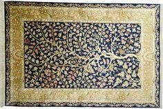 Tapis Ghoum - Soie (chaine et trame) - Iran - 150 x 100 cm / © WWW.TAPISDORIENT.NET - 2006/2017 - BY SERENIART