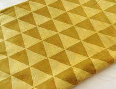 Mud cloth fabric natural dye dusty henna color  triangle hand block print Indian cotton fabric daboo cotton half yard