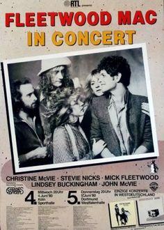 Fleetwood Mac Concert Poster https://www.facebook.com/FromTheWaybackMachine/