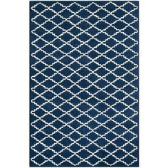 Safavieh Chatham Dark Blue/Ivory 4 ft. x 6 ft. Area Rug-CHT721C-4 at The Home Depot