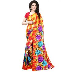 Picturesque Red Color Premium Georgette Printed Saree at just Rs.499/- on www.vendorvilla.com. Cash on Delivery, Easy Returns, Lowest Price.