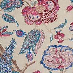 Zoffany - Luxury Fabric and Wallpaper Design | Products | British/UK Fabric and Wallpapers | Kalamkari (ZJAI311741) | Jaipur Wallpapers