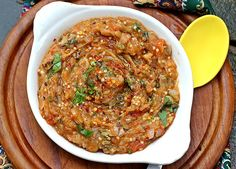 Indian Baigan Bharta – Char Roasted Eggplant Dip