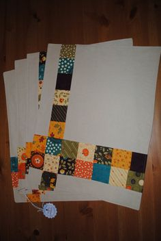Fall Patchwork Placemats