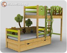 Детские двухъярусные кровати - Детский интерьер