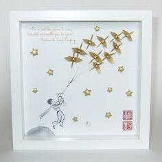 """Cadres, Triptyque """"Le Petit Prince"""" est une création orginale de Creations-Archange sur DaWanda"""