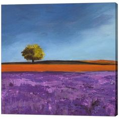 Metaverse Art Field of Lavender Canvas Wall Art ($260) ❤ liked on Polyvore featuring home, home decor, wall art, multicolor, canvas home decor, colorful home decor, vertical canvas wall art, canvas wall art and colorful canvas wall art