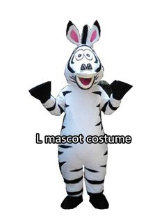 Factory direct sale adult size in Madagascar Zebra Mascot Costume horse mascot Free Shipping  sc 1 st  Pinterest & $1290.00 Power Stallion Mascot Costume from Alinco Costumes ...