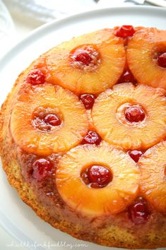 Gluten Free Pineapple Upside-Down Cake | OMG this gluten free cake recipe looks so good! I can't wait to make it for my dad's birthday!