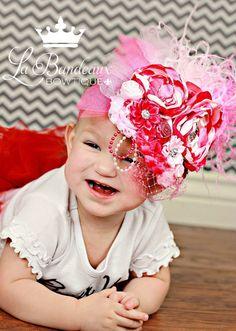 Pink Sensation CoutureBaby HeadbandPhoto by LaBandeauxBowtique, $23.00