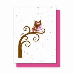 Pink/Brown Plantable greeting card