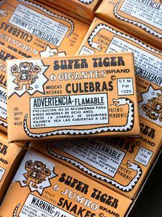 Vintage 1983 SUPER TIGER Box of Magic Color Snakes