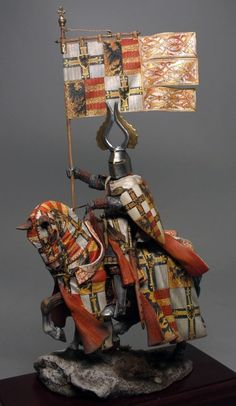 Medieval Knight - Virtual Museum of Historical Miniatures Medieval World, Medieval Knight, Medieval Armor, Armadura Medieval, Crusader Knight, Fantasy Model, Fantasy Battle, Military Figures, Miniature Figurines