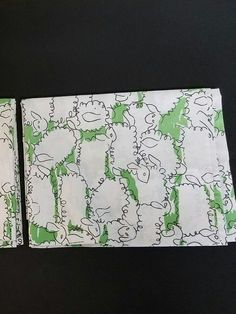 Vintage Set of 2 Standard Size Pillowcases Green White Sheep Lambs VL Cute Vintage design.   I do not recognize  the manufacturer mark. Made in USA  of 50% combed Cotton and 50%  Polyester.   I do not see any damage or stains.  See photos for actual condition.  Photographing a brighter green than true color.   https://nemb.ly/p/SkhItpFsl Happily published via Nembol