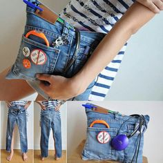 Cool pouch thing made from jeans