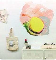 xochi solis - painting on wall