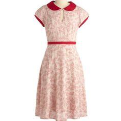 Lovely retro red & white dress -  http://www.modcloth.com/shop/dresses/elegant-invitation-dress