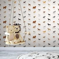 If your kids is a dog lover, then this dog breeds wallpaper will be perfect for their bedroom wall. Kids Wallpaper, Wall Wallpaper, Pattern Wallpaper, Bedroom Wall, Bedroom Decor, Different Dogs, Dogs And Kids, Dog Pattern, Cute Illustration