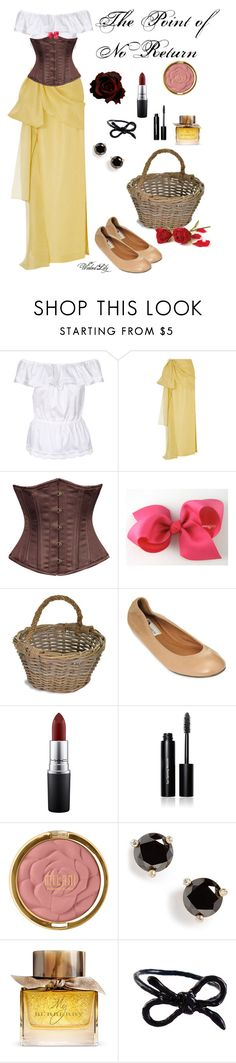 """""""The Point of No Return-Christine Daae from """"The Phantom of  the Opera"""""""" by le-piano-argent ❤ liked on Polyvore featuring Lola, Rosie Assoulin, Garden Trading, Lanvin, MAC Cosmetics, Bobbi Brown Cosmetics, Milani, Kate Spade, Burberry and Areaware"""