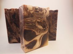 Hand crafted goats milk soap made with the cold process method. Piece 'a Cake