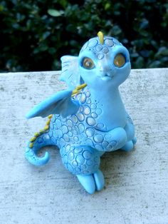 BlueBee Myxie Dragon Pal Sculpture by MysticReflections on Etsy