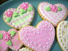 gallery of heart cookies | Pastel Valentine Hearts — Cookies!