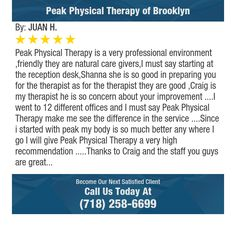 Peak Physical Therapy is a very professional environment ,friendly they are natural care...