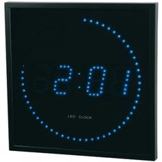1000 images about horloges led on pinterest led clock - Horloge murale led bleue ...
