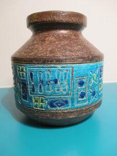 Midcentury Bitossi ceramic vase - by Aldo Londi on Etsy, $145.00