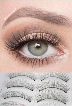 10 Pairs Natural Handmade Thick Long False Eyelashes Soft Fake Eye Lashes Extension Voluminous Makeup [9005548932]