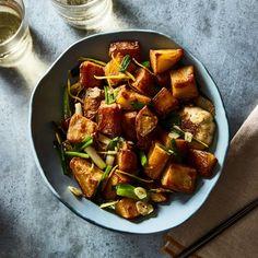Crispy Soy & Ginger Roast Potatoes From Lara Lee recipe on Food52 Crispy Roast Potatoes, Roasted Potatoes, Potato Sides, Potato Side Dishes, Main Dishes, Roasted Potato Recipes, Grilled Meat, Recipes For Beginners, Food 52