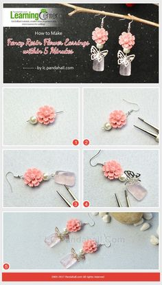 How to Make Fancy Resin Flower Earrings within 5 Minutes from LC.Pandahall.com | Jewelry Making Tutorials & Tips 2 | Pinterest by Jersica