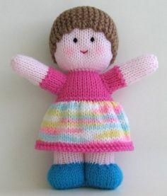 Knit doll - 25 cm