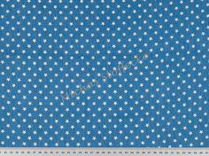 Michas Stoffecke - Leichter Jeans Sterne helles jeansblau S1-PT798000-5