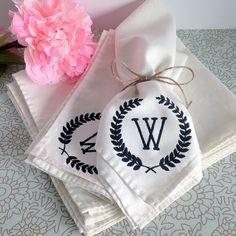 DIY Monogram Cloth Napkins
