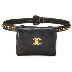 Black Quilted Lambskin Belt Bag 28 ($2,500) ❤ liked on Polyvore featuring bags, belts and quilted bag