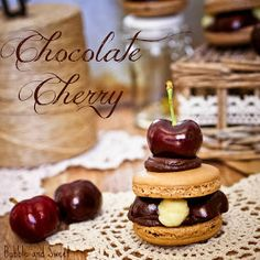 Bubble and Sweet: Chocolate Cherry French Macarons