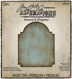 Tim Holtz Sizzix Die VINTAGE CABINET CARD Movers & Shapers Bigz Alterations 657217 at Simon Says STAMP!
