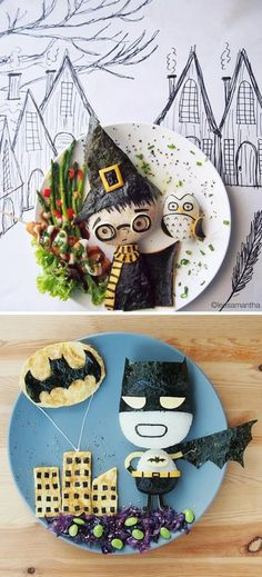 10 Most Amazing Pieces of Lunch Art By Parents (food art, lunch box, bento, awesome parents) - ODDEE