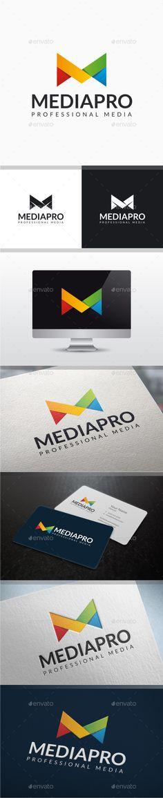 Media Pro  Letter M Logo — Vector EPS #alphabet #m logo • Available here → https://graphicriver.net/item/media-pro-letter-m-logo/9826397?ref=pxcr