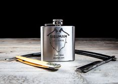 Big bottle of the classic Sisuman Beard Oil Natural, handmade and bottled in a stainless steel flask. Natural Beard Oil, Natural Oils, Big Bottle, Beard Balm, Flask, The Balm, Jewellery, Handmade, Products