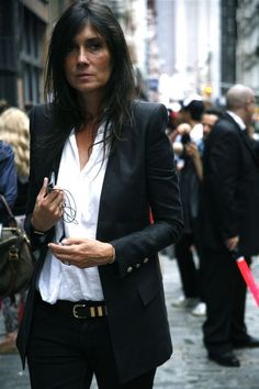 Emmanuelle Alt -- Maybe with a sharp blazer on??