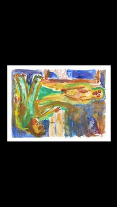 . Georg Baselitz - Ohne Titel (Das Liebespaar), 1984 - Watercolor - 47,8 x 65,5 cm