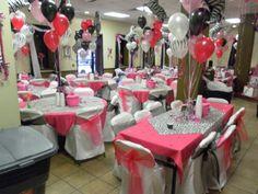 Zebra & Hot Pink Hall Decor Sweet 15 Done By Me Sweet Skills Decor