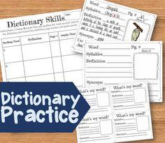 Dictionary Skills- Dictionary skills that integrate into everyday spelling words. The activities provide practice with dictionaries, thesaurus, identifying syllables in a word, guided words, synonyms, antonyms, and using the word in your own sentence. Students can practice these skills in whole group, with partners, or independently. Excellent idea for introduction to using the dictionary, homework, or in spelling stations!