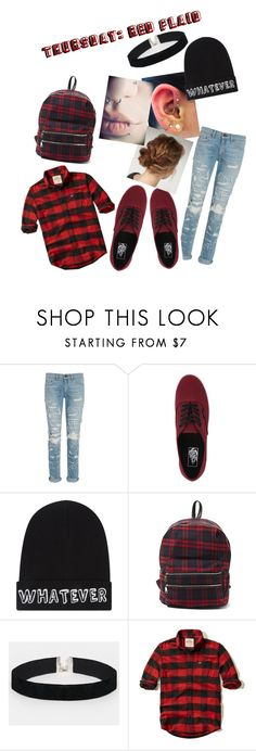 """Thursday: Red Plaid"" by calligaskarth ❤ liked on Polyvore featuring rag & bone, Vans, Local Heroes, Steve Madden, ASOS and Hollister Co."